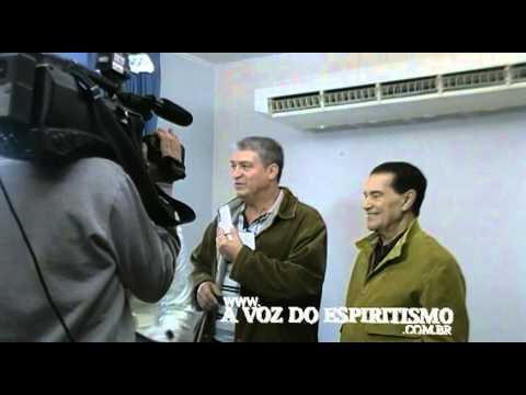 Divaldo Pereira Franco em entrevista coletiva em Araçatuba
