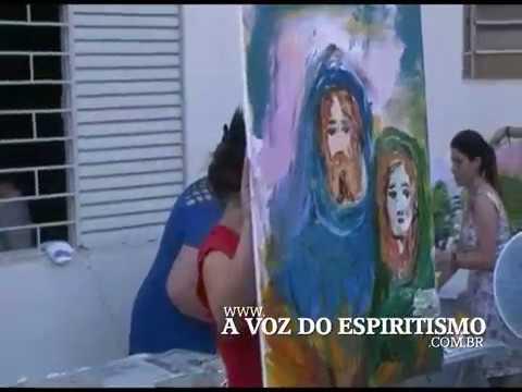 Pintura mediúnica com Marilusa Moreira Vasconcelos