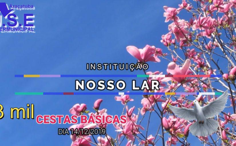 Entrega das Cestas Básicas sábado 14 de Dezembro apartir das 14 horas na Instituição Nosso Lar